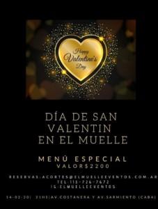 flyer menu valentine's day