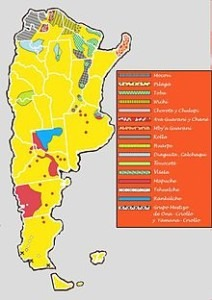 Indigenous Argentine Map