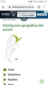 yacare argentina map